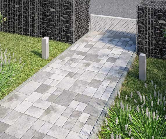 Pflasterstein Weg Gartenwege Anlegen Vorgarten Garten Pflaster