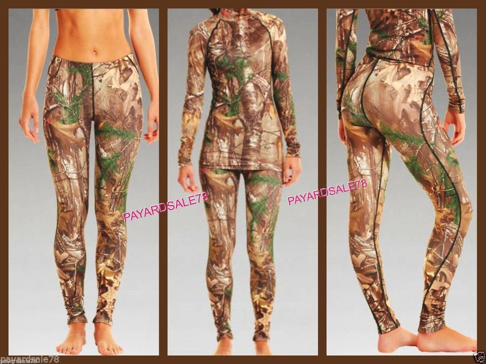 f1a1978da5bbd WOMEN'S UNDER ARMOUR CAMO TIGHTS LEGGINGS EVO MOSSY OAK PRINT FITTED  CAMOUFLAGE #UnderArmour