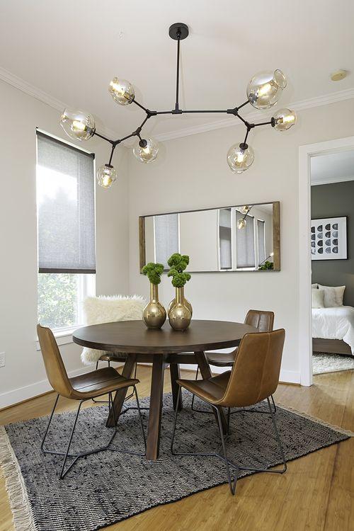 atlanta beltline loft dining modern light fixture mid century