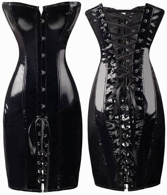 312befd313c10 Latex Looking Black or Red Corset Dress Size SXL by OurCheapStore ...