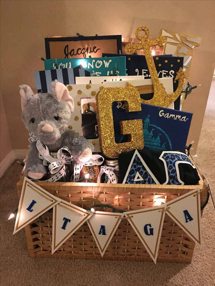 big/little gift basket #biglittlecanvas