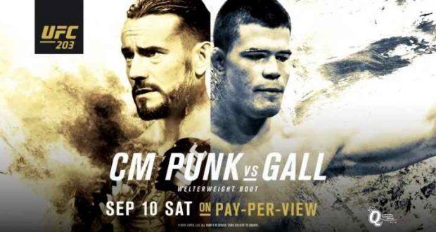 Watch Ufc 203 Cm Punk Vs Mickey Gall Fight Cm Punk Ufc Punk