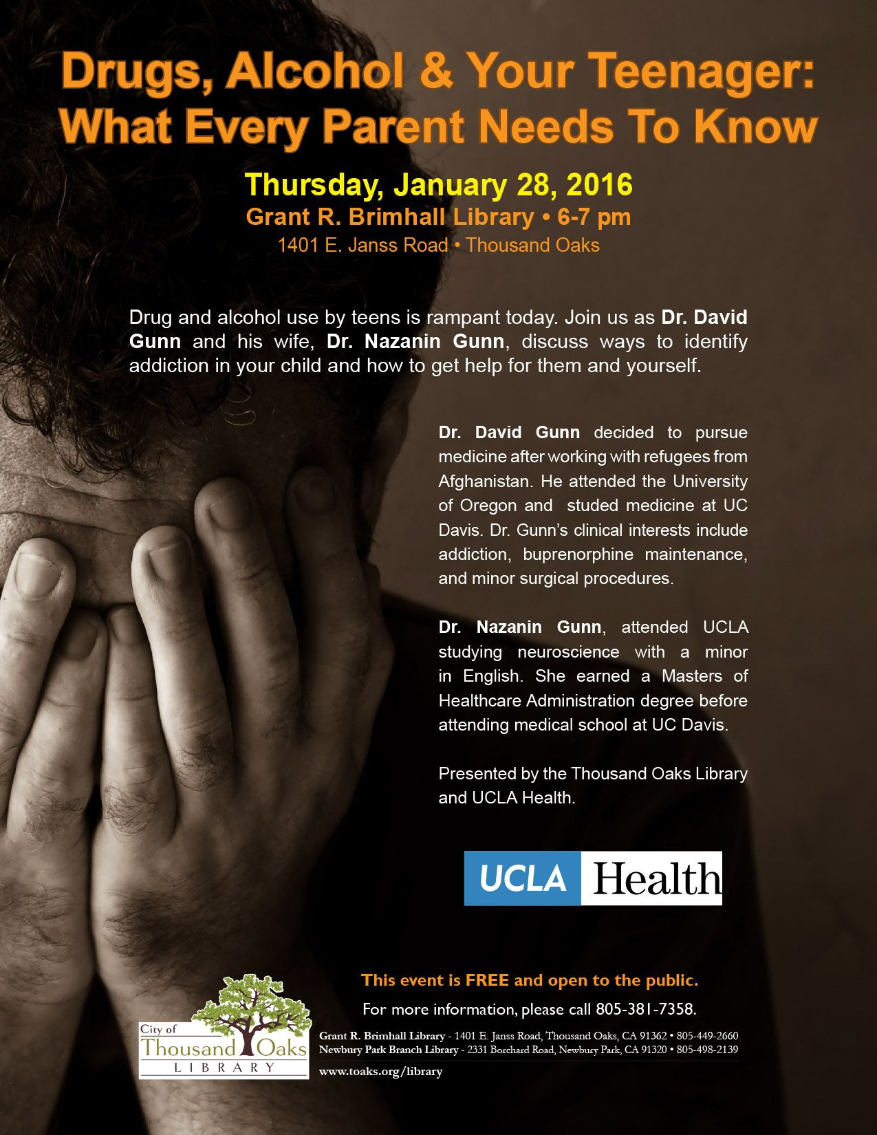 The Thousand Oaks Library and UCLA Health Care present