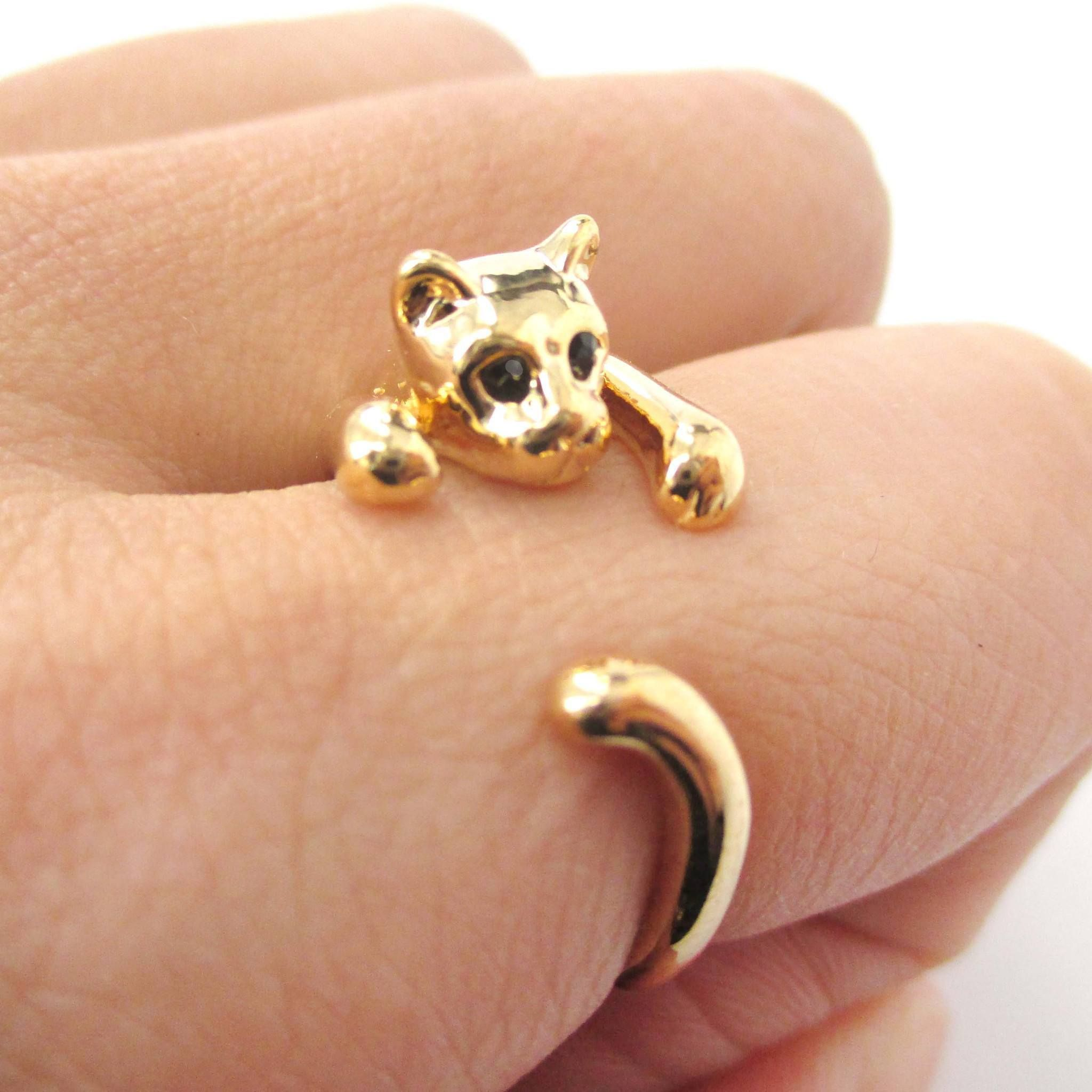Details Sizing Shipping An adorable animal ring made