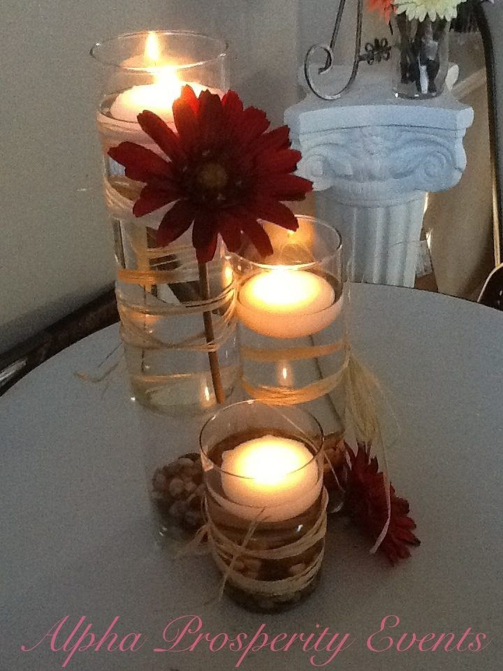 super affordable centerpiece idea for a country chic event raffia