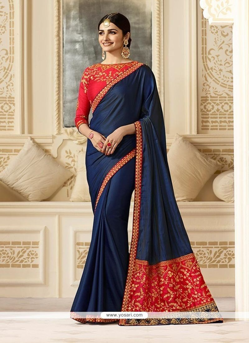 Prachi desai navy blue classic saree prachi desai saree and navy blue