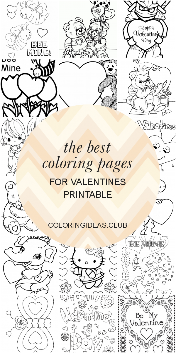 The Best Coloring Pages For Valentines Printable Printable