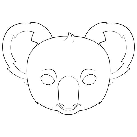 Mascara De Koala Dibujo Para Colorear Koala Craft Drawings Koala