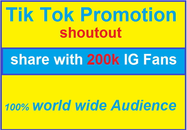 I Will Do Tiktok Shoutout Promotion On 201k Ig Page Shout Out Force Users Promotion
