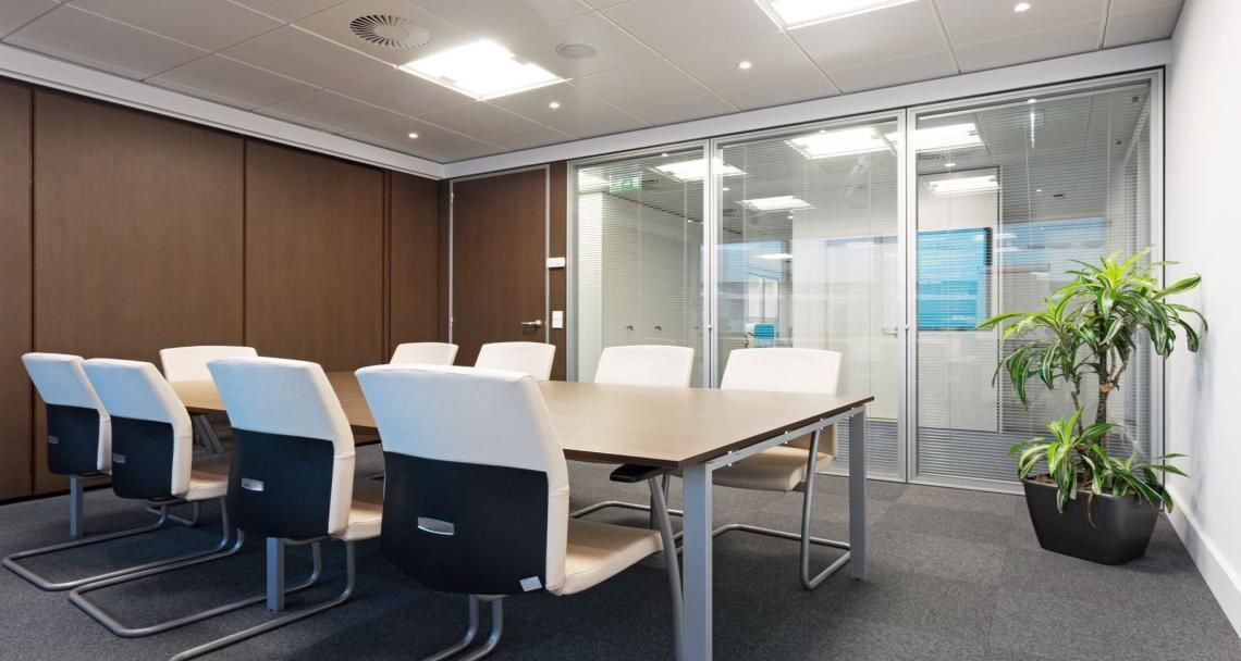 Meeting room into the premises of Mylan in Lisbon, Portugal