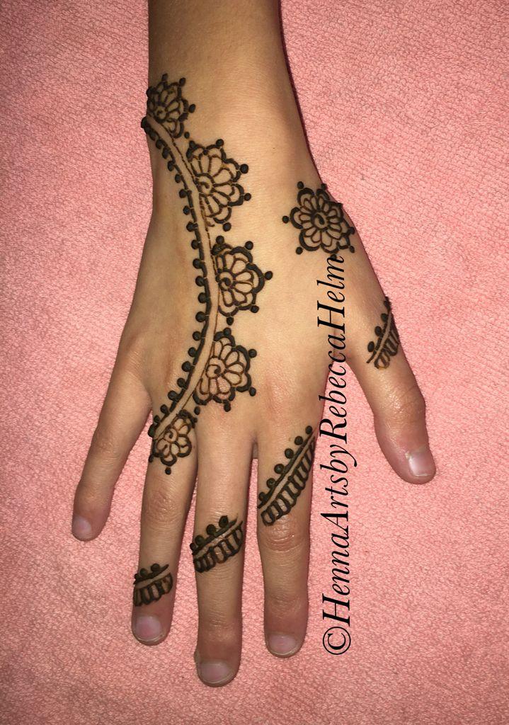 84496bef8 Natural Henna #hennaartsbyrebeccahelm   Simple Henna Strips   Hand ...