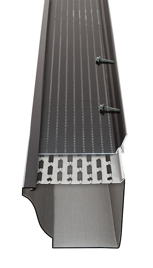 Doublepro Leaf Guard Closed Gutter System In 2020 House System Metal Extrusion Leaf Guard