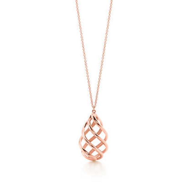 572887a77 Tiffany & Co. - Paloma's Venezia Luce pendant in 18k rose gold, medium.