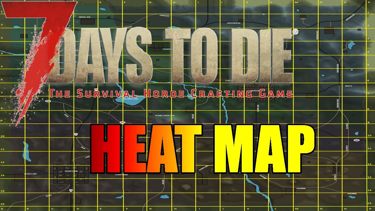 Map 7 Days To Die.7 Days To Die Heat Map How Are Zombies Attracted Gaming Videos
