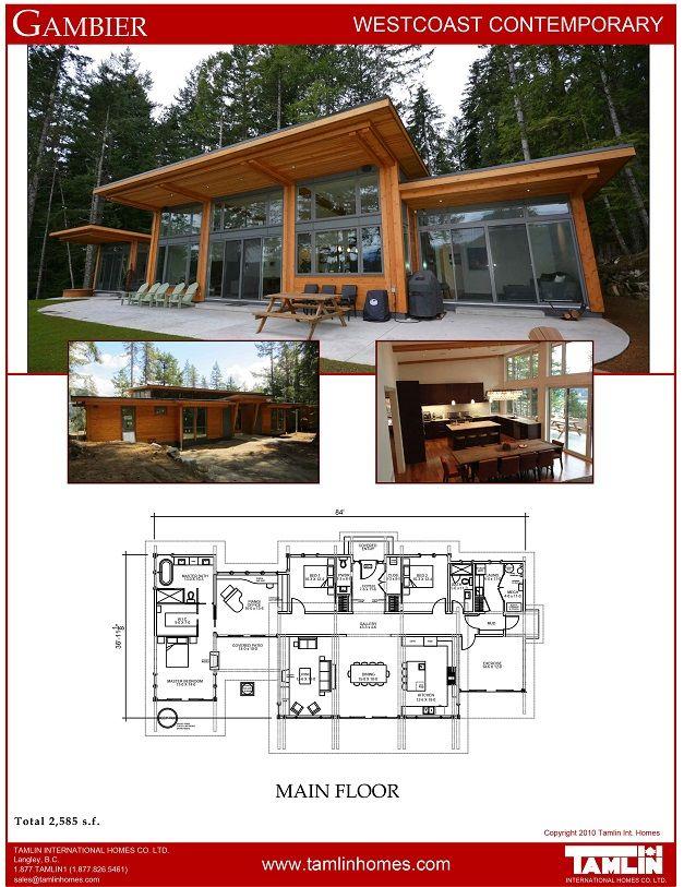 Contemporary Designs Tamlin Timber Frame Homes Prefab Homes Modern House Plans Building A House