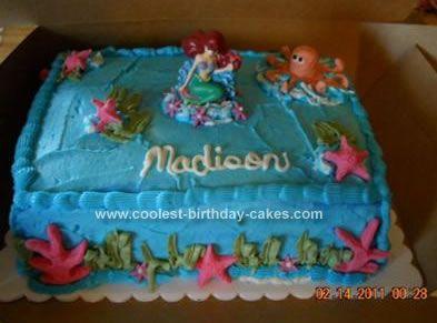 Coolest Little Mermaid Cake Mermaid Cakes Sheet Pan And