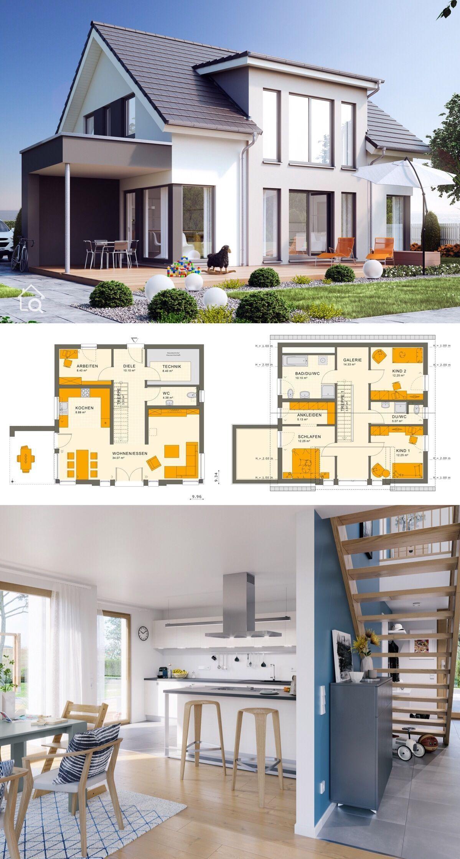 Single Family House Sunshine 154 V2 Living Haus Direct Construction Single Family In 2020 Modern Small House Design House Architecture Design Architecture House