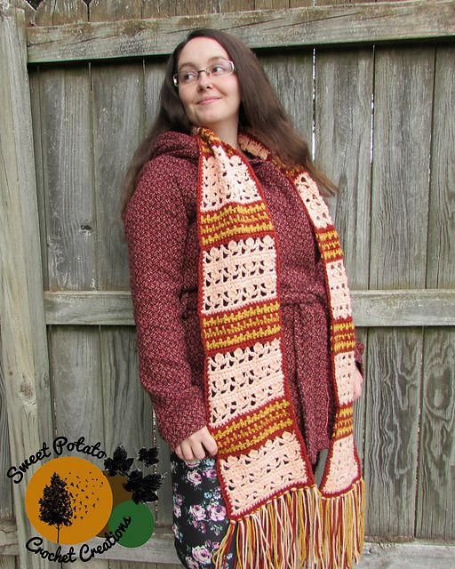 Photo of Dancing Aspen Scarf pattern by Sweet Potato Crochet Creations