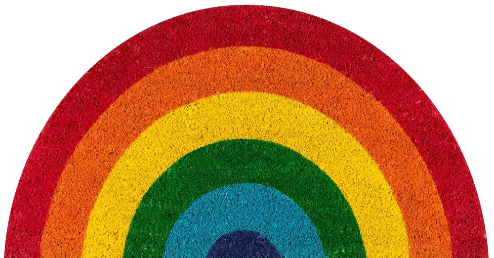Aloha Rainbow 30 In X 18 In Non Slip Outdoor Door Mat Door Mat Outdoor Door Mat Novogratz