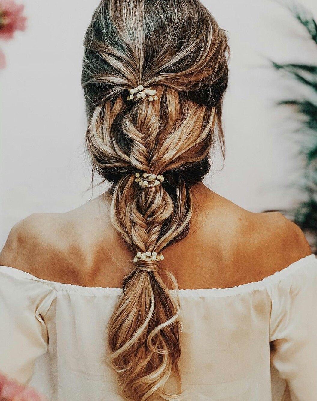 Beautiful Wedding Hair Style Peinados Boda Trenza Peinados Boda Pelo Largo Trenzas Para Bodas