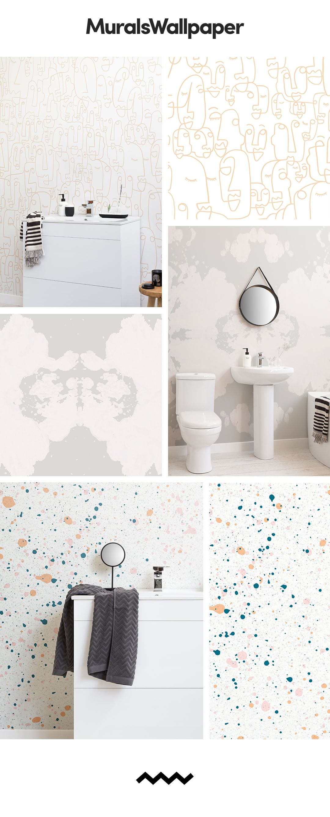 Create A Clean And Modern Bathroom Space With Modern White Bathroom Wallpapers And Murals With Images Bathroom Wallpaper Modern Bathroom Wallpaper Bathroom Interior Design