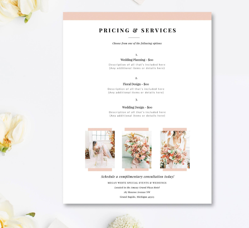 Wedding Planner Price List Template Event Coordinator Pricing Etsy In 2020 Event Planning Event Planning Business Event Planning Quotes