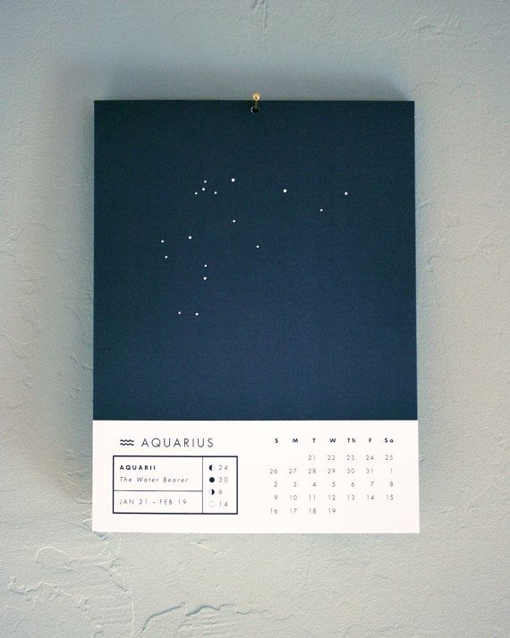 Astrology Wall Calendar By Prismaticprintshop On Etsy
