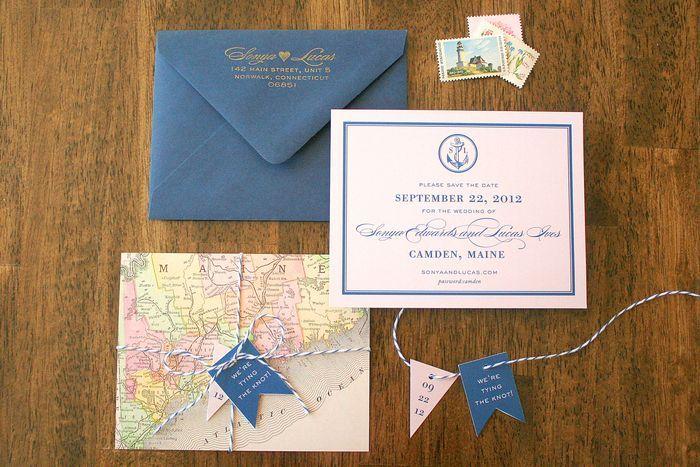 Twine And Map Love By Parrott Design Studio Seaside Wedding Nautical