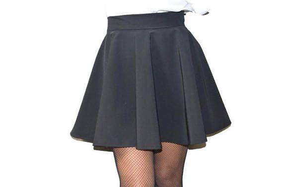 Jupe Patineuse Cloche Jupe Ample Evasee En Crepe Elegante Skirt Loose Skirt Flared Skirt Trendy Skirt Jupe Patineuse Jupe Jupe Patineuse Noire