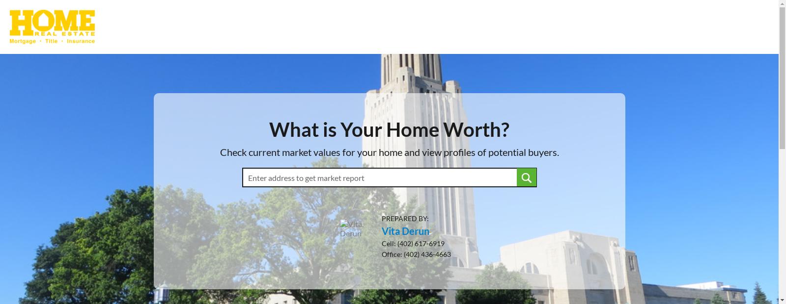 Home Value Estimator By Vita Derun Home Values Real Estate