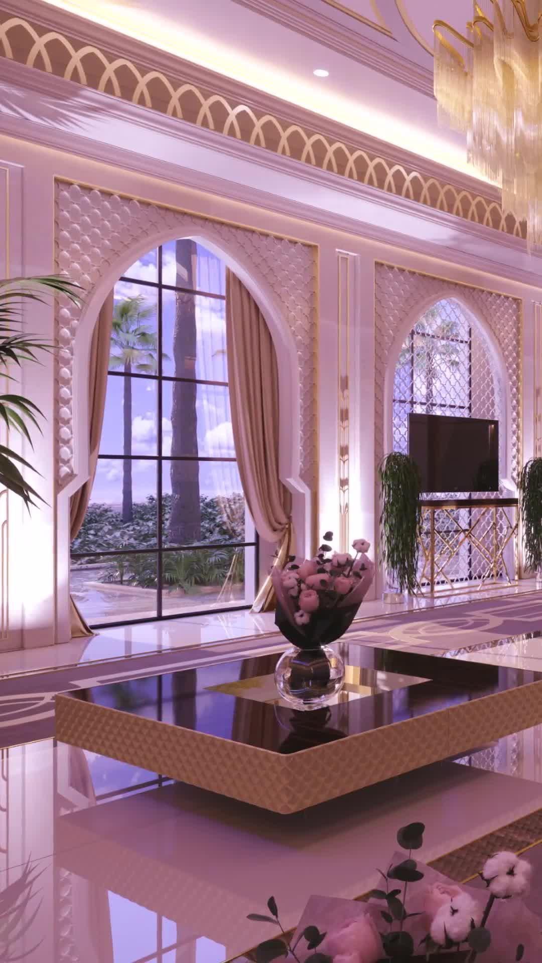 Luxury mansion majlis interior design in Dubai - V