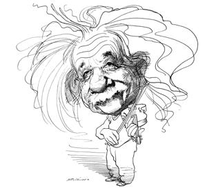 Albert Einstein By David Levine The New York Review Of Books Caricaturas Einstein Ilustracao Pop