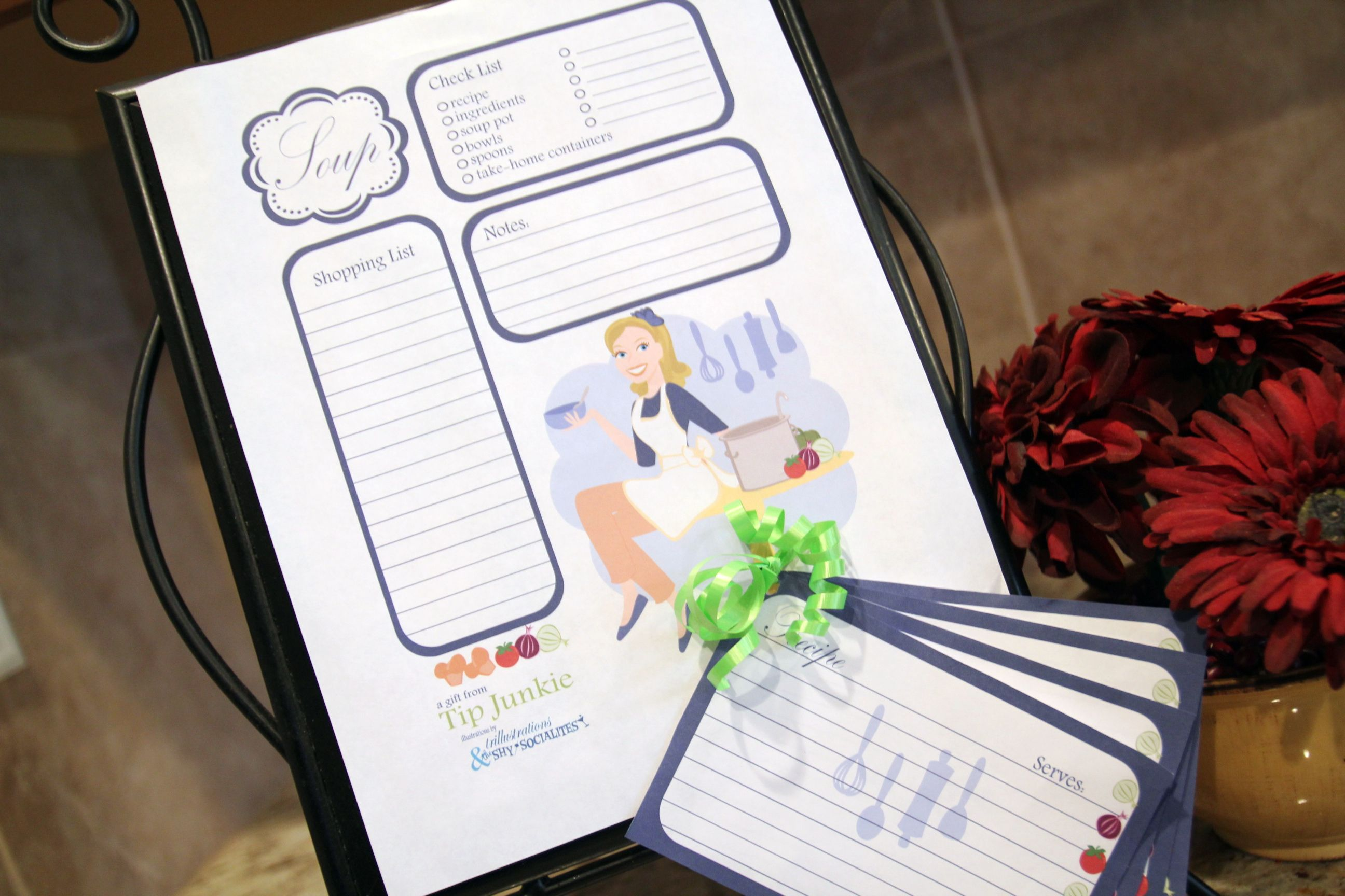 Fall Soup Party Recipe Cards And Shopping List