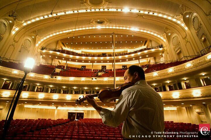 Chicago Symphony view from the stage
