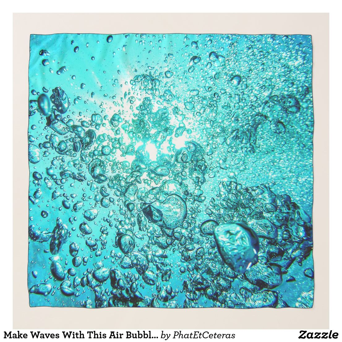 bubbles zazzle waves filmy scarf giver while