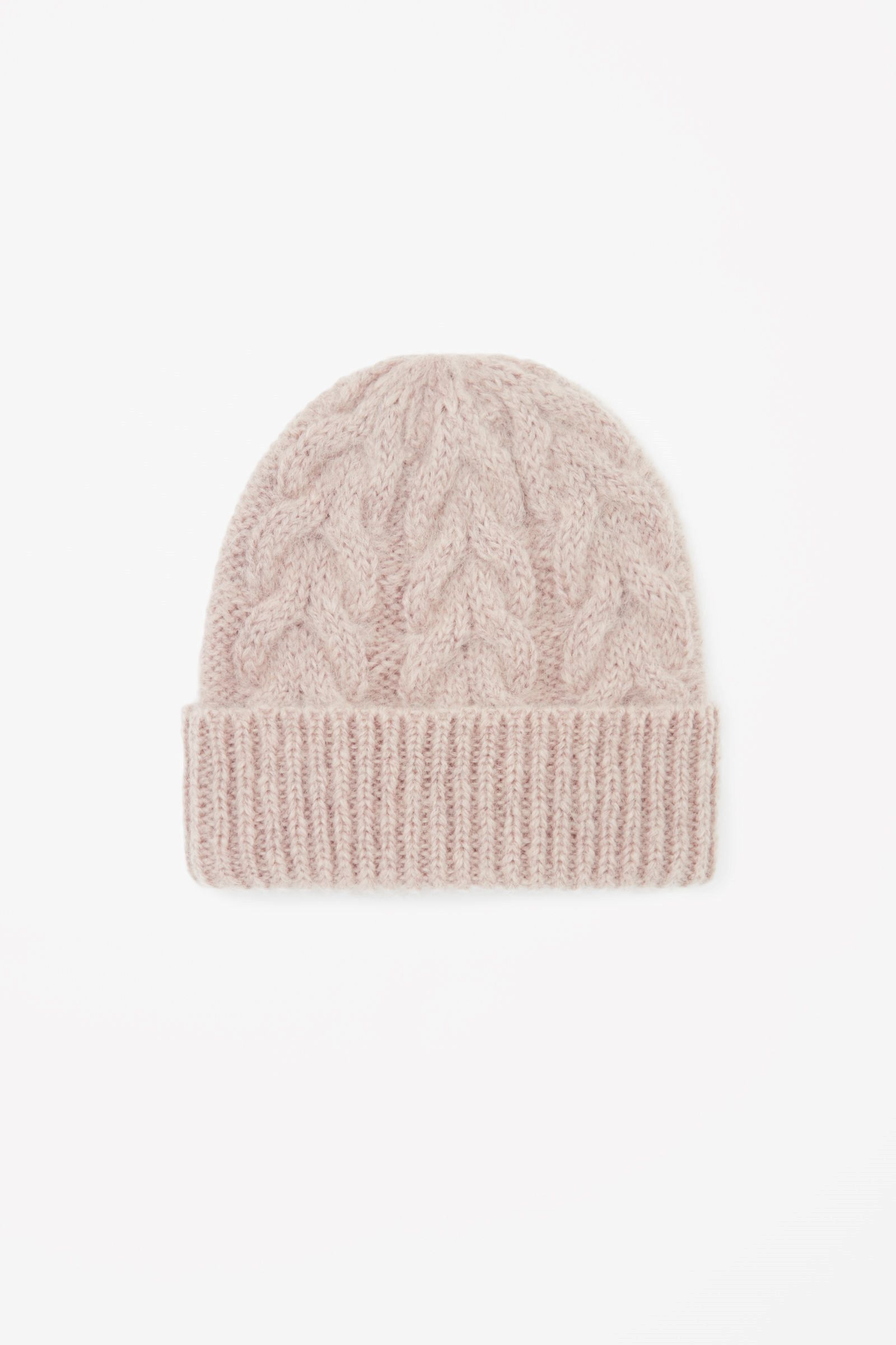 7a10398c615 COS image 4 of Cable-knit hat in Pink Yellowish Light