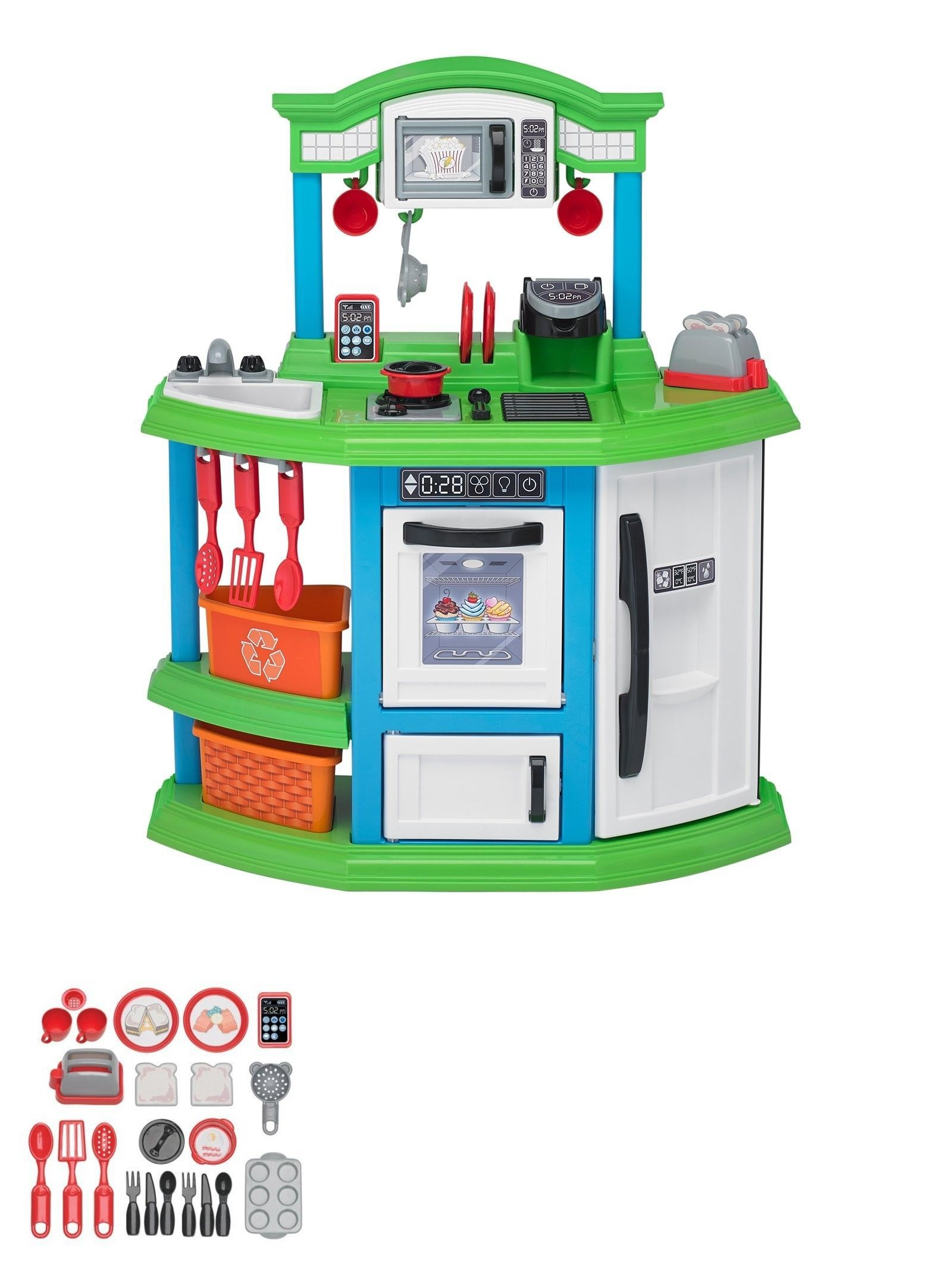 Toys for kids kitchen set  Kitchens  Kids Pretend Play Kitchen Set Cooking Food Toy
