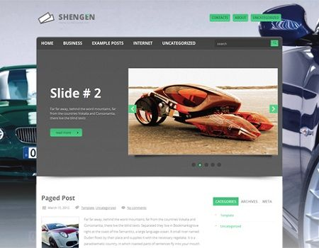 Race Car Wordpress Web Design \