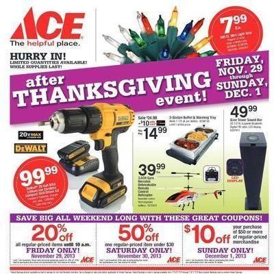 Ace Hardware 2013 Black Friday Ad Leaked