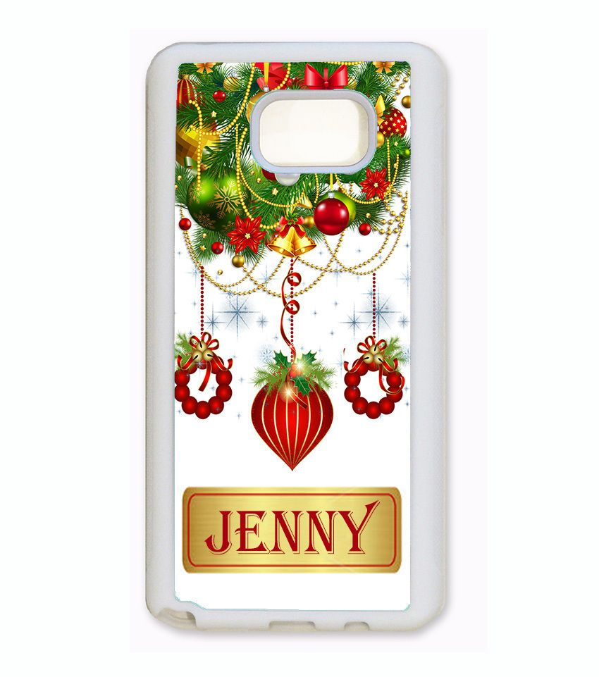 Custom name ornaments - Christmas Ornament Phone Case For Samsung Galaxy S8 S7 S6 Note 5 4 3 Custom Name