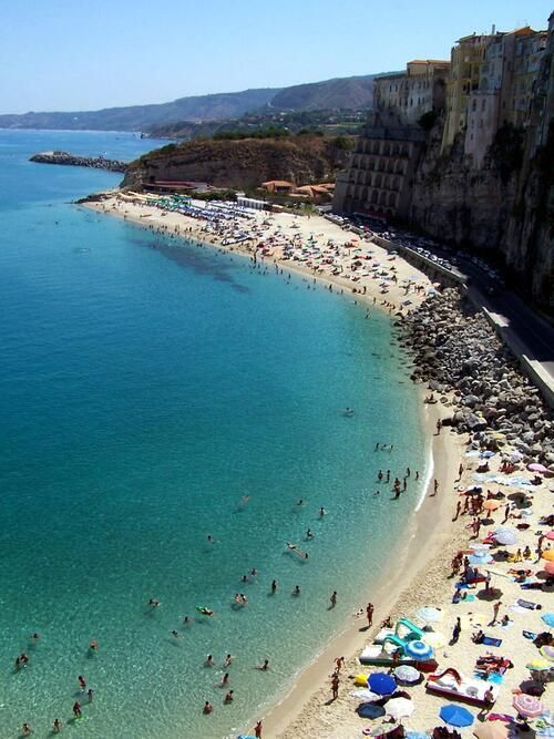 Playa De Tropea Calabria Italia Postales Del Mundo Italia