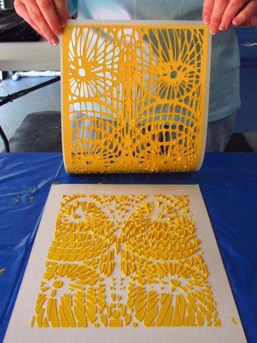 Art...: Rubbing Plates, Flip-Flops and Stencils