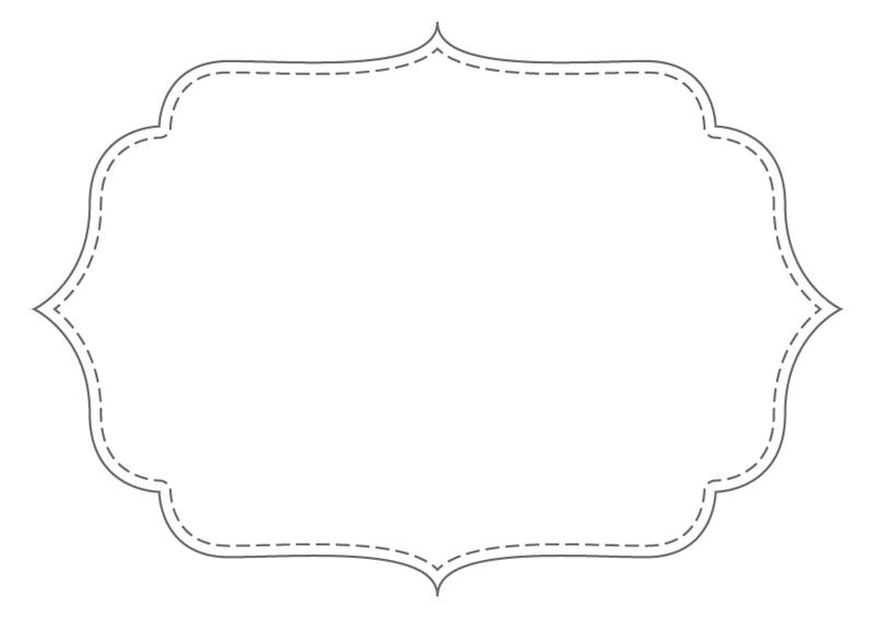 Bracket Frames From Puresweetjoy Frame Printable Labels Kraft Bag