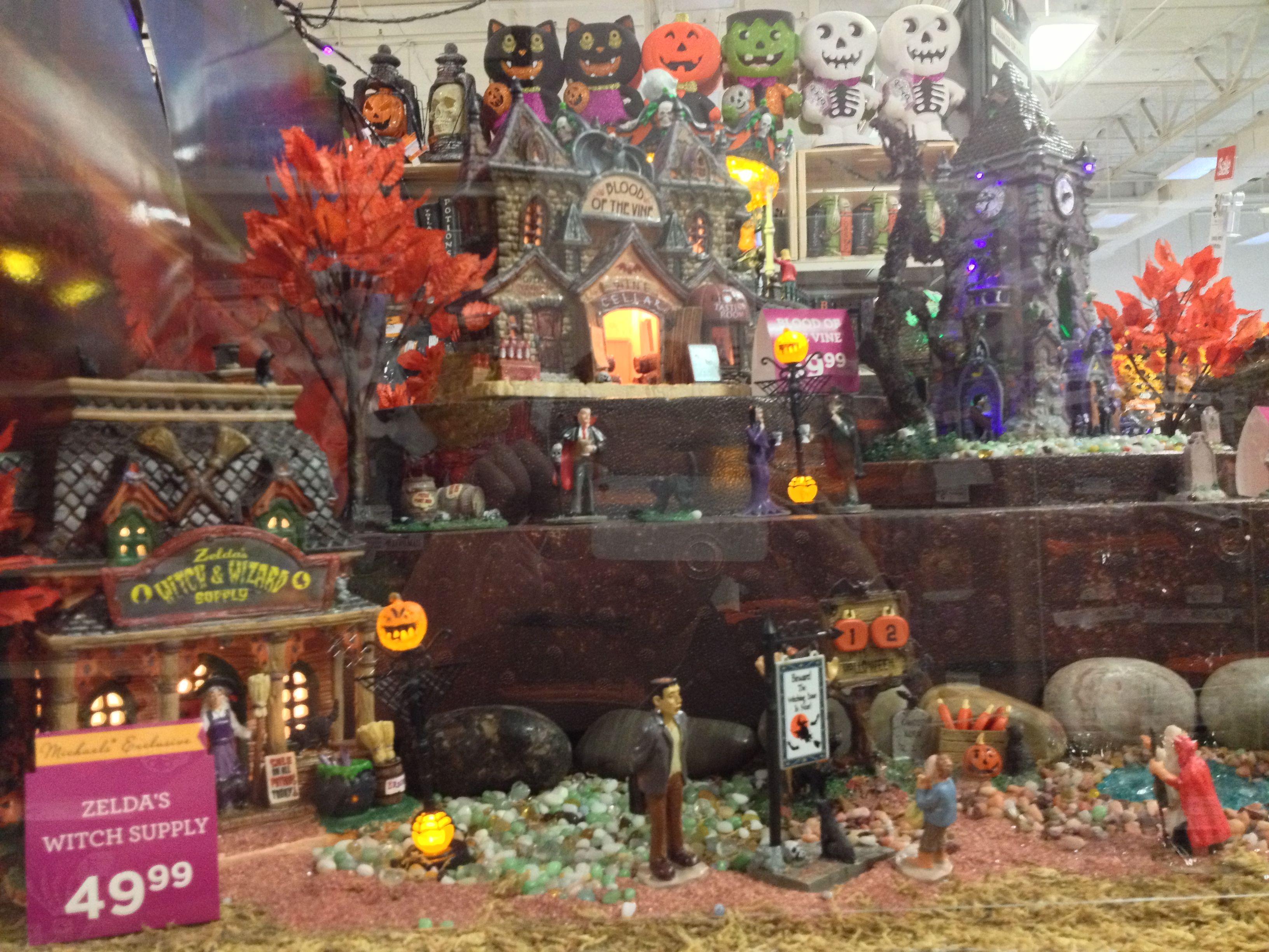 Halloween village display lemax spooky town display 2013