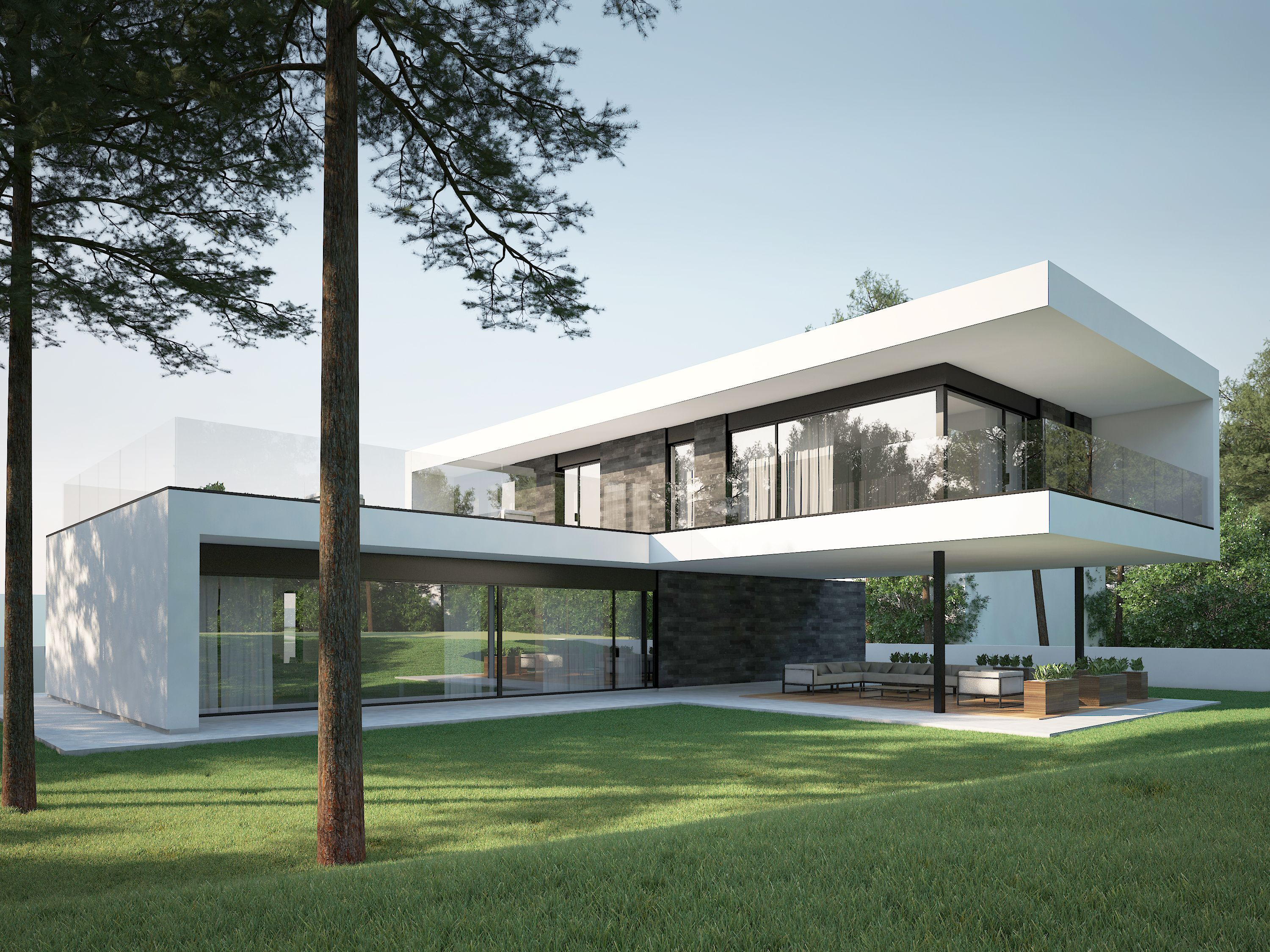 Modern House In Kaunas By NG Architects Wwwngarchitectslt Robots - Minecraft hauser modern holz