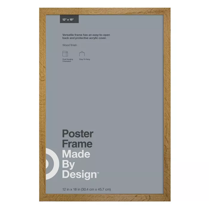 12 X 18 Poster Frame Brown Made By Design In 2021 Poster Frame Made By Design Neutral Picture Frames
