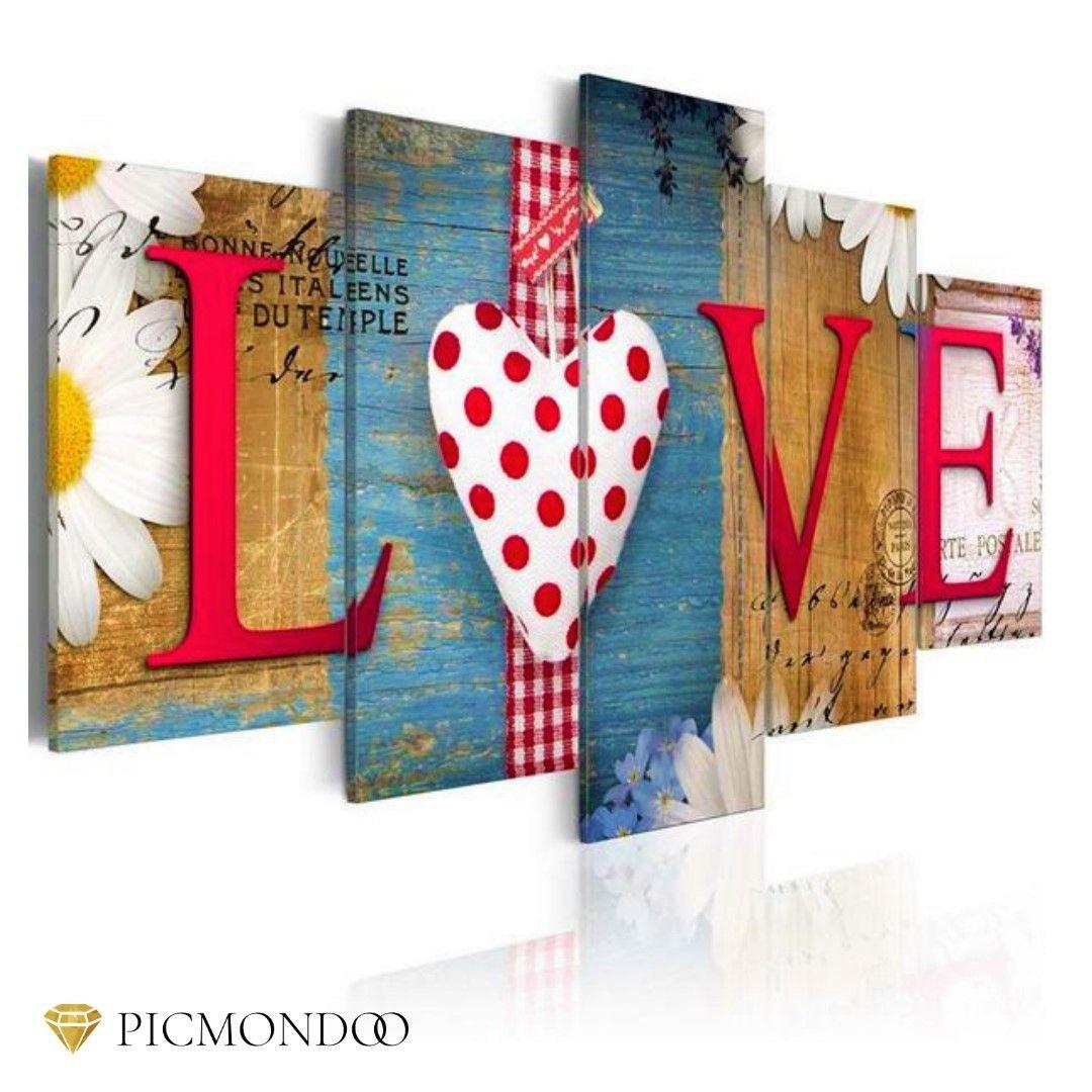 5d Diamanten Malerei Love Xxl 5 Teilig Dieses Und Weitere Motive Findest Du In Unserem Shop Link In Der Bio 5ddia Diy Bilder Painting Malerei