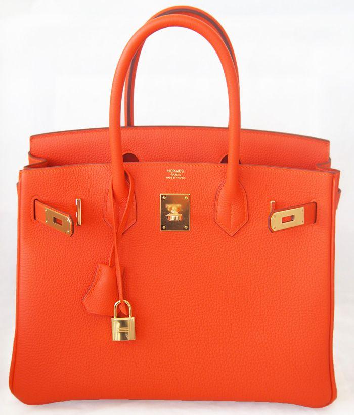 04387ab7b7 Hermes Birkin 30 Cm Feu Orange Ghw Gold Togo Bag