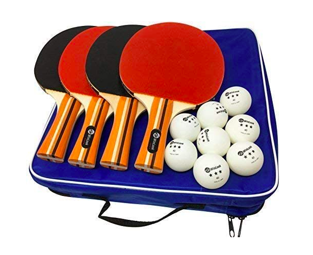 Jp Winlook Ping Pong Paddle 4 Pack Premium Patent Table Tennis Racket Set W Portable Cover Case Table Tennis Racket Table Tennis Ping Pong Paddles