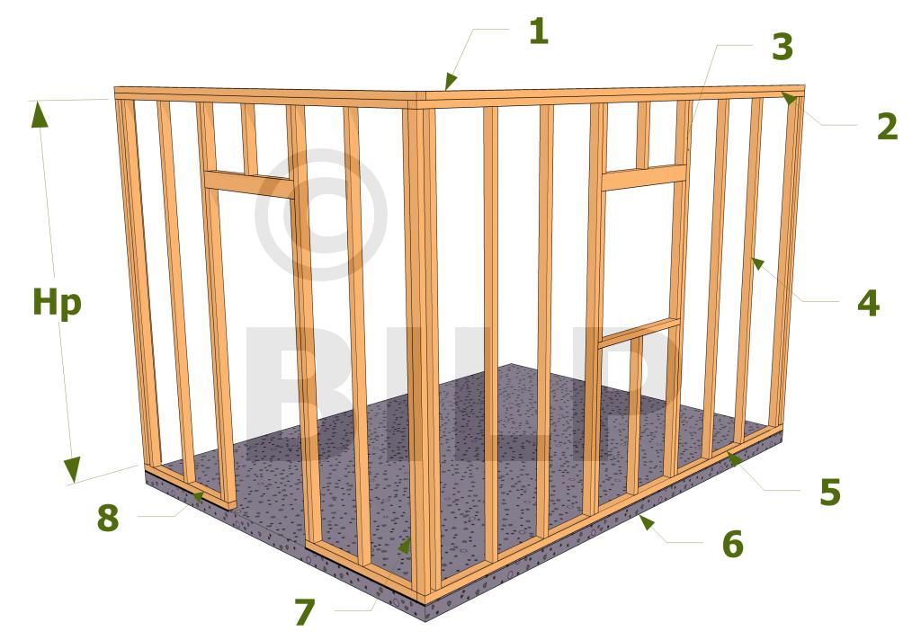 les diff rents l ments qui constituent une ossature bois plateforme maisons pinterest. Black Bedroom Furniture Sets. Home Design Ideas